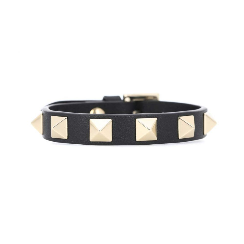 ヴァレンティノ レディース ジュエリー・アクセサリー ブレスレット【Valentino Garavani Rockstud leather bracelet】