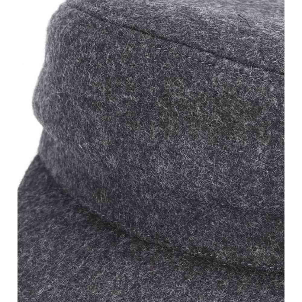 b78fabfc409 イザベル マラン レディース 帽子 Evie wool-blend hat Anthracite ...
