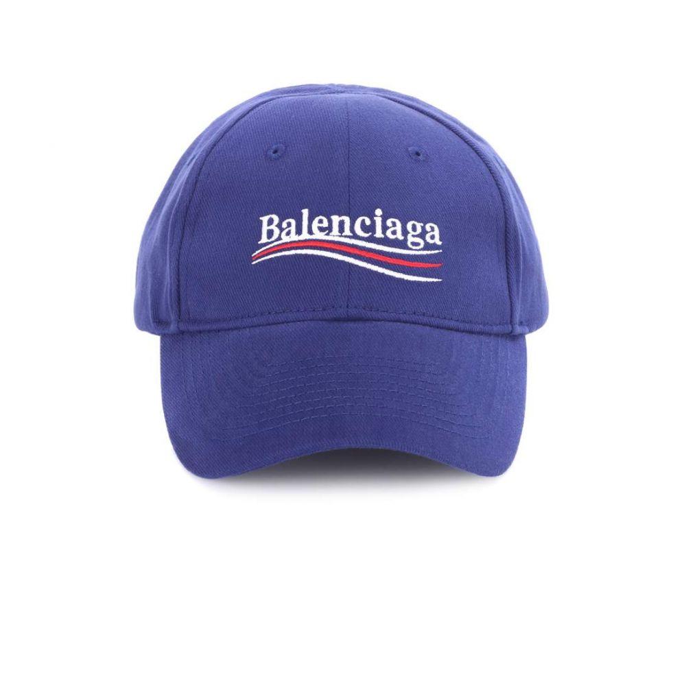 バレンシアガ レディース 帽子 キャップ【Embroidered cotton baseball cap】Navy Blue