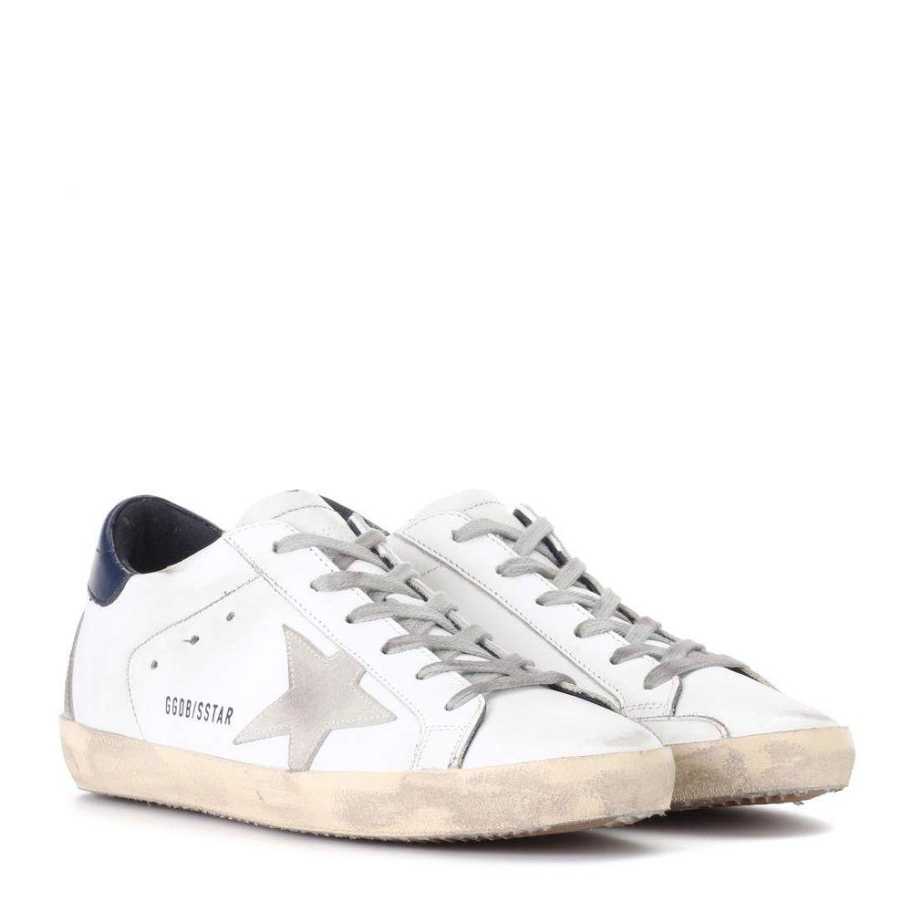 ゴールデン グース レディース シューズ・靴 スニーカー【Superstar leather sneakers】White Blue Cream Sole