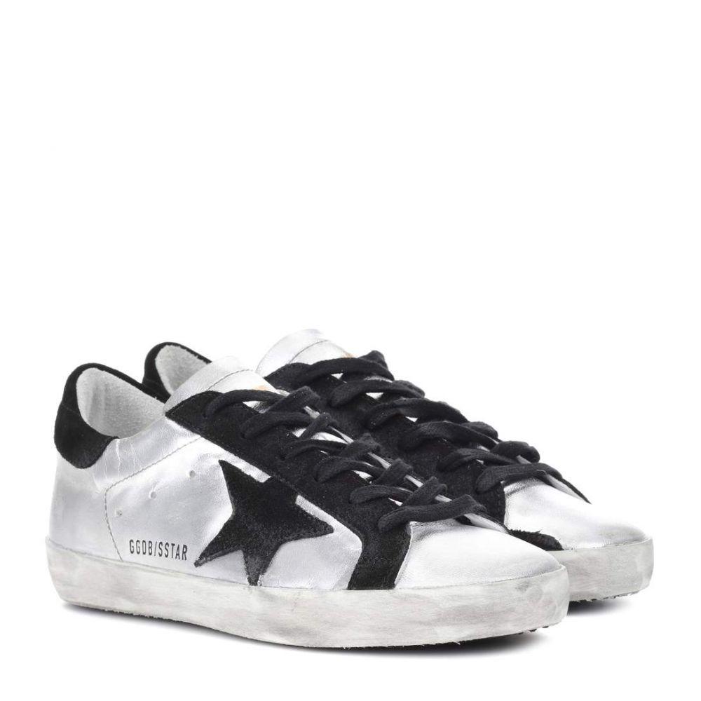 ゴールデン グース レディース シューズ・靴 スニーカー【Superstar metallic leather sneakers】Silver Black Leather