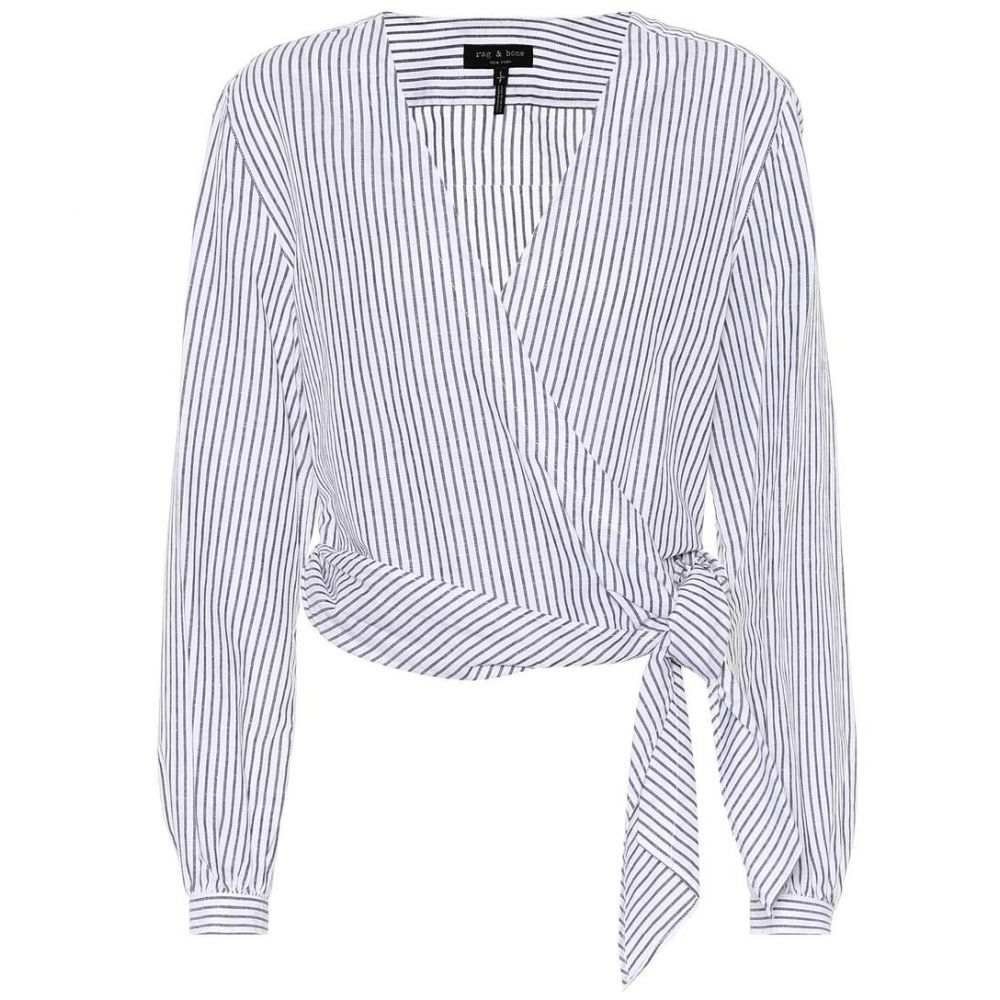 ラグ&ボーン レディース トップス ブラウス・シャツ【Prescot cotton and linen blouse】Salute Strip