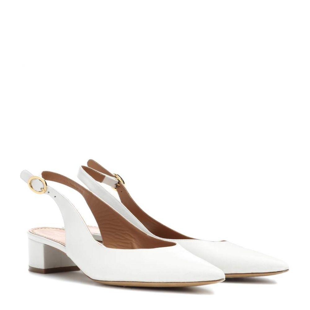 マンサーガブリエル レディース シューズ・靴 パンプス【Leather slingback pumps】White