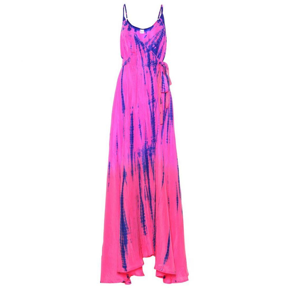 アンナ コスツローバ レディース ワンピース・ドレス ワンピース【Tie-dye silk maxi dress】Neon Orange