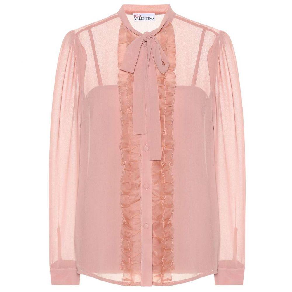 レッド ヴァレンティノ レディース トップス ブラウス・シャツ【Organza blouse】Rose