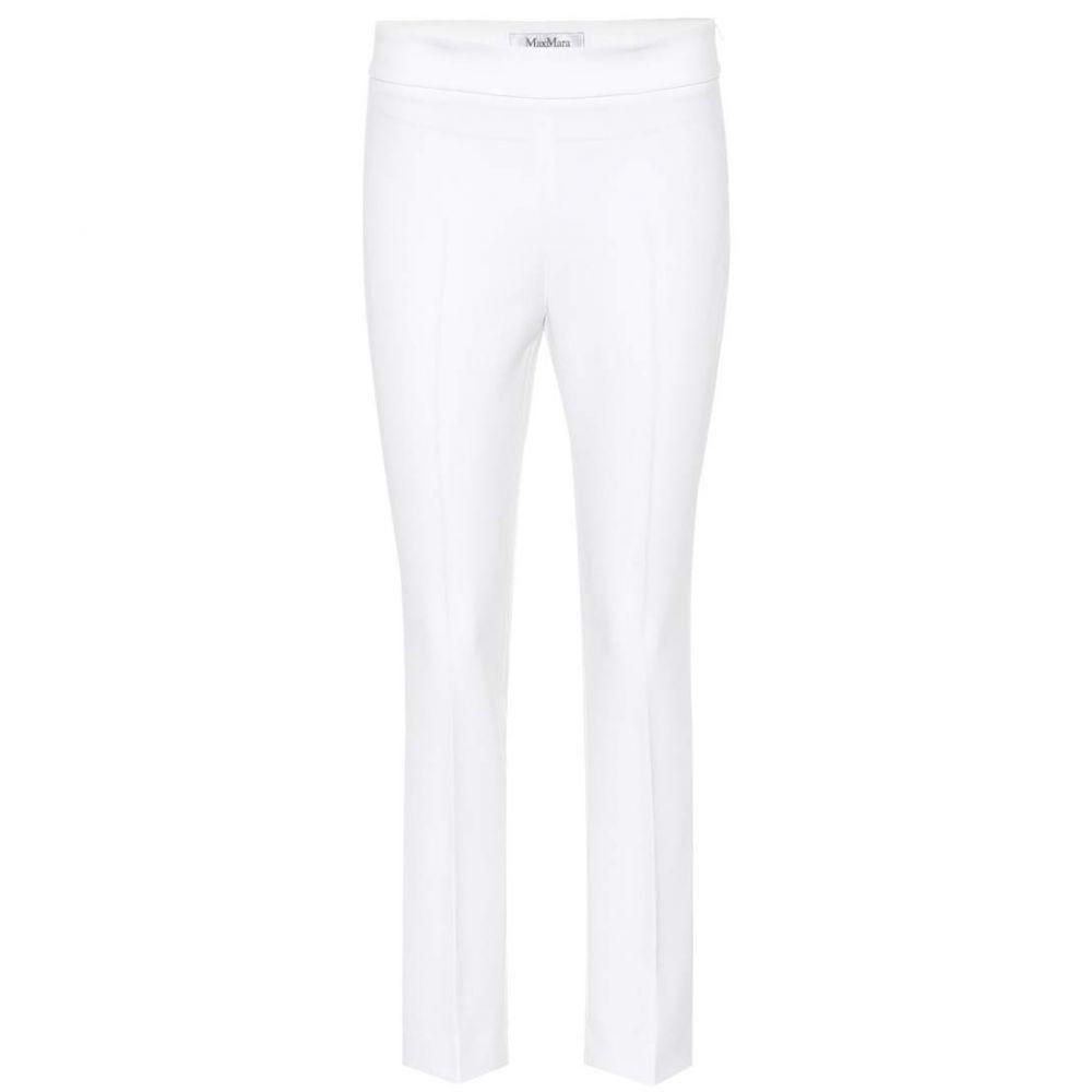 マックスマーラ レディース ボトムス・パンツ クロップド【Gelly crepe pants】White