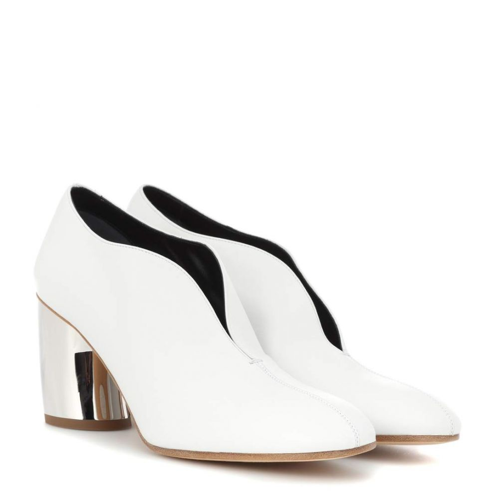 プロエンザ スクーラー レディース シューズ・靴 パンプス【Leather curved heel pumps】Silver