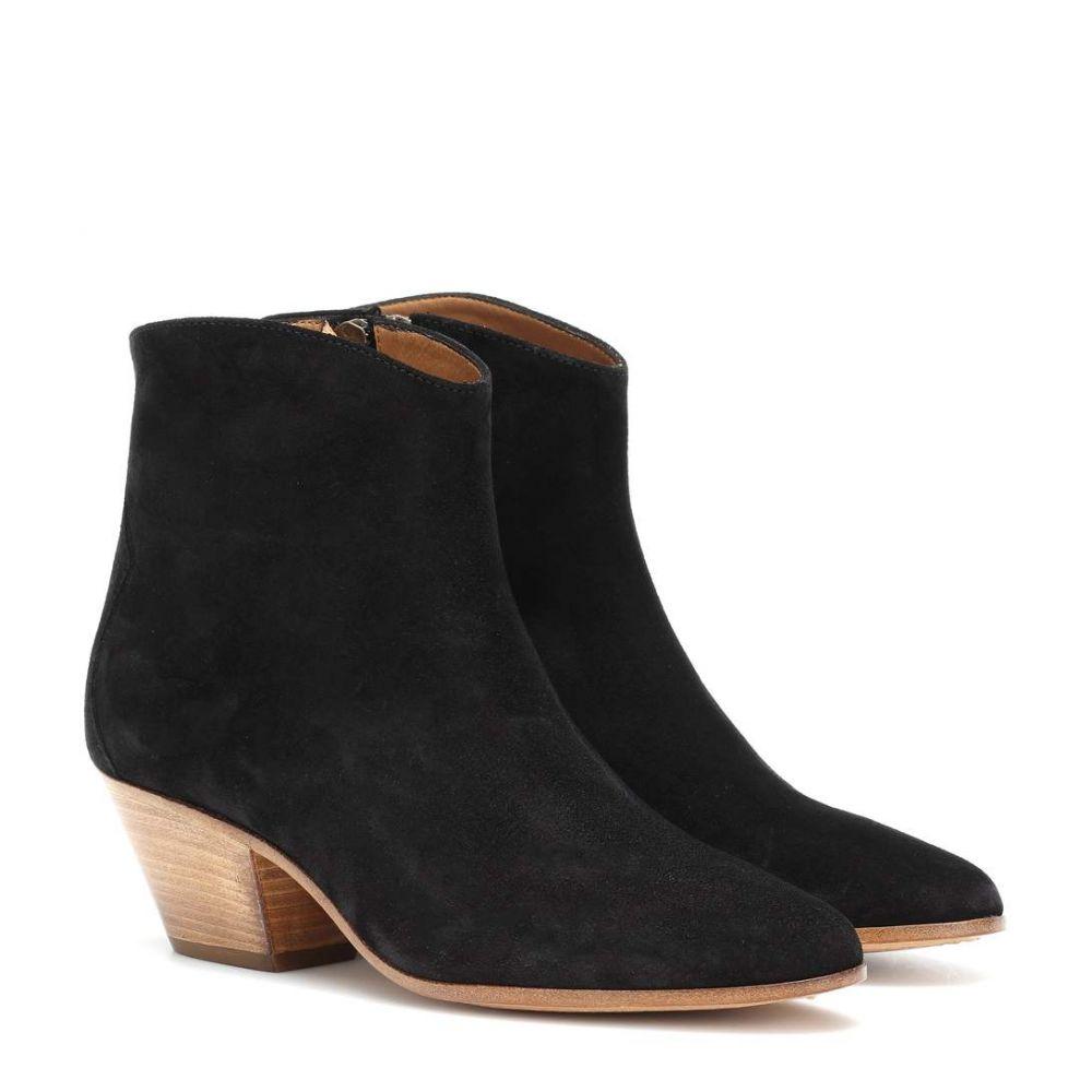 イザベル マラン レディース シューズ・靴 ブーツ【Dacken suede ankle boots】Black