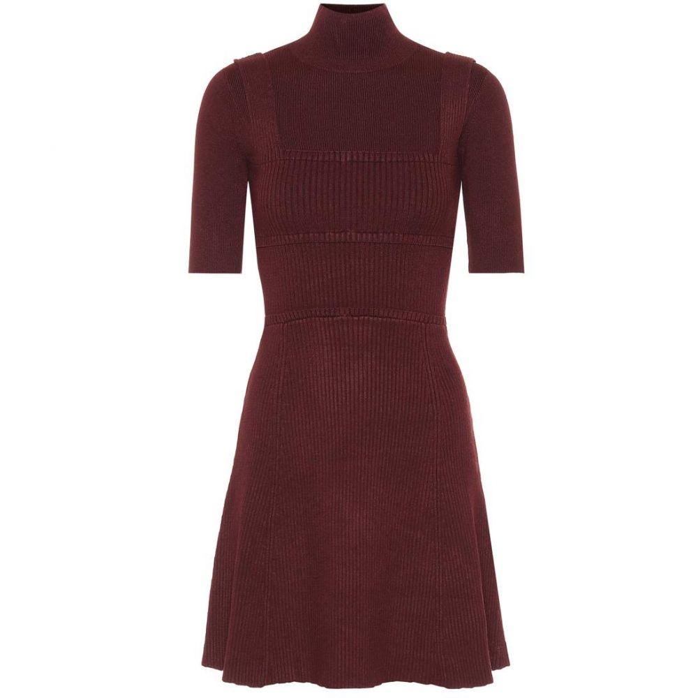 ヴィクトリア ベッカム レディース ワンピース・ドレス ワンピース【Knitted dress】Garnet