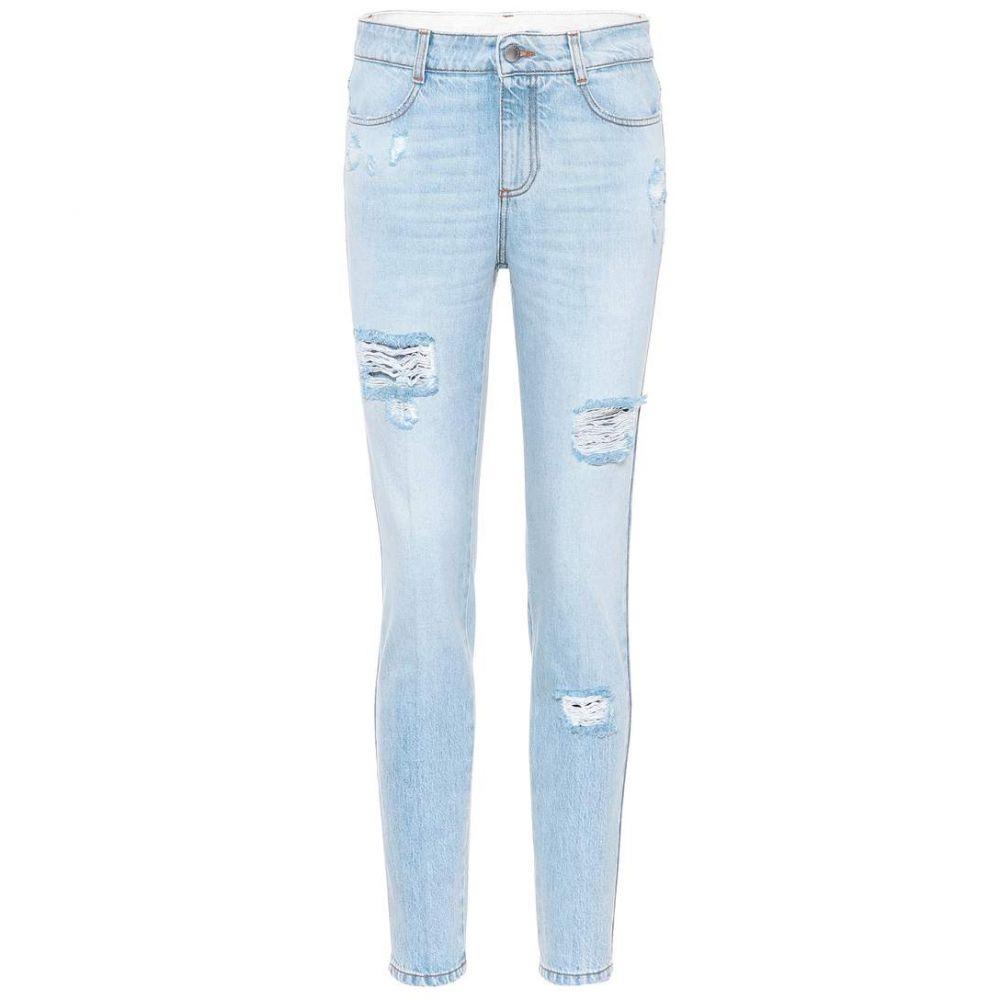 ステラ マッカートニー レディース ボトムス・パンツ ジーンズ・デニム【Distressed skinny jeans】Pale Blue