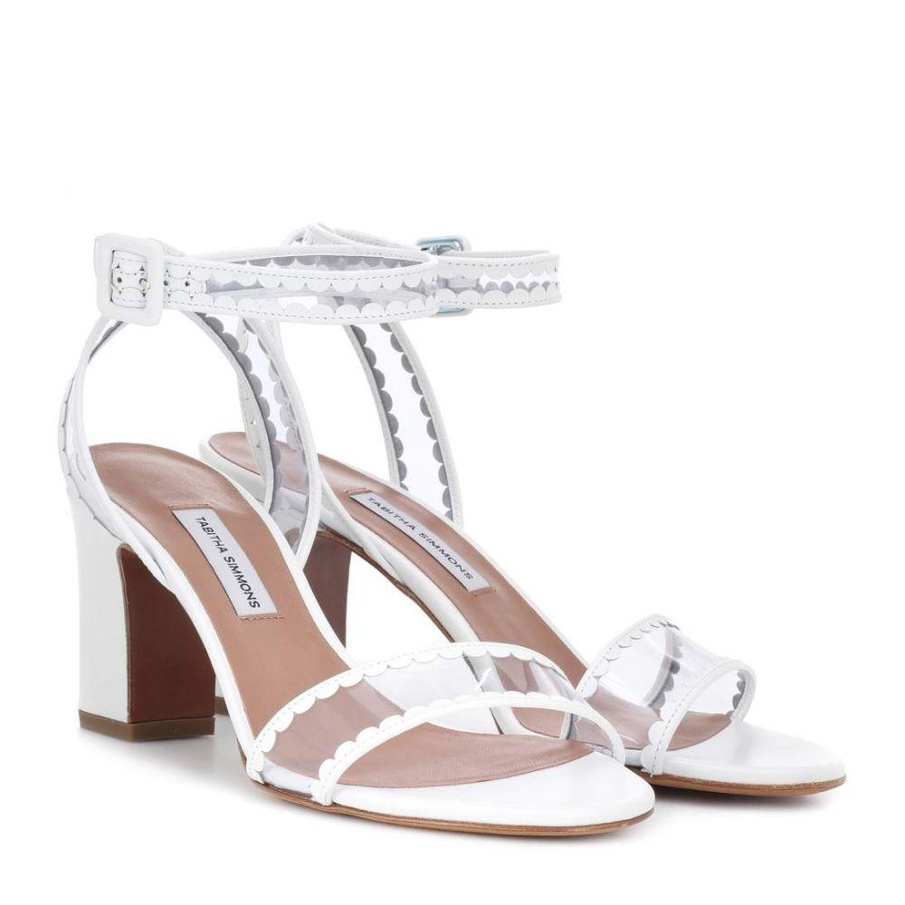 タビサ シモンズ レディース シューズ・靴 サンダル・ミュール【Leticia Frill leather sandals】White