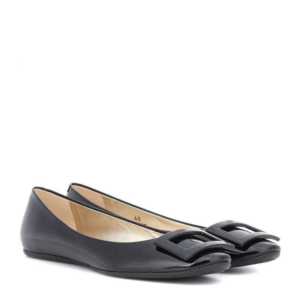 ロジェ ヴィヴィエ レディース シューズ・靴 スリッポン・フラット【Gommette ballet flats】Black