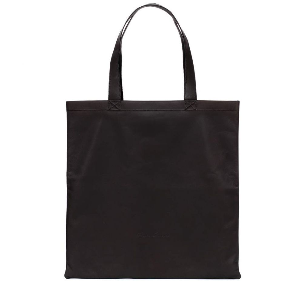 リック オウエンス レディース バッグ トートバッグ【Leather tote】Black