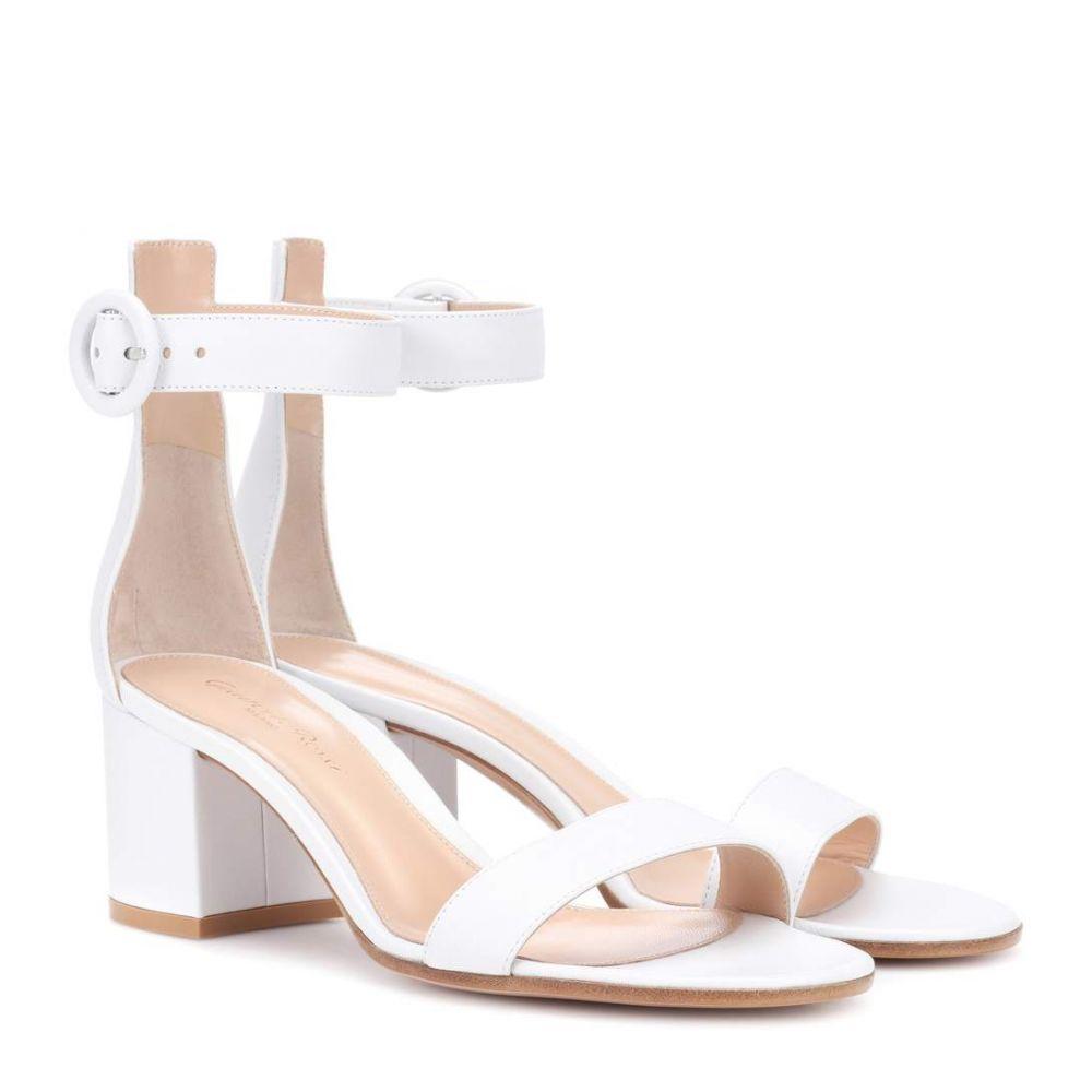 ジャンヴィト ロッシ レディース シューズ・靴 サンダル・ミュール【Versilia 60 leather sandals】White
