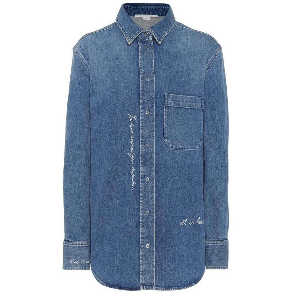 ステラ マッカートニー レディース トップス ブラウス・シャツ【Embroidered denim shirt】Medium Blue