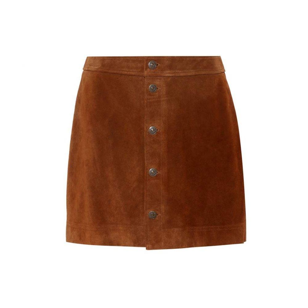 ラルフ ローレン レディース スカート ミニスカート【Suede miniskirt】English Brown