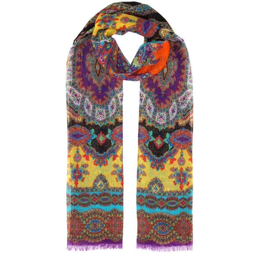 エトロ レディース マフラー・スカーフ・ストール【Paisley-printed cashmere scarf】Multicolor