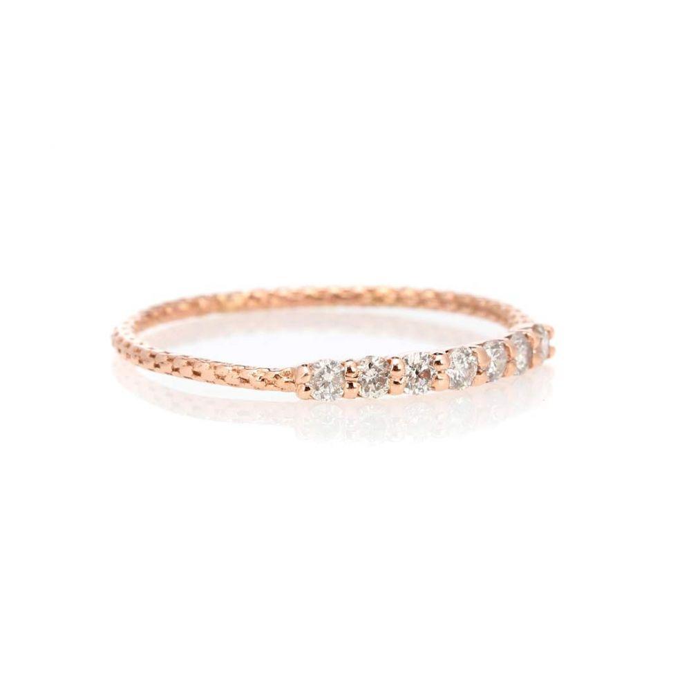 ジャッキーアイチェ レディース ジュエリー・アクセサリー 指輪・リング【Vintage Waif 14kt rose gold diamond ring】