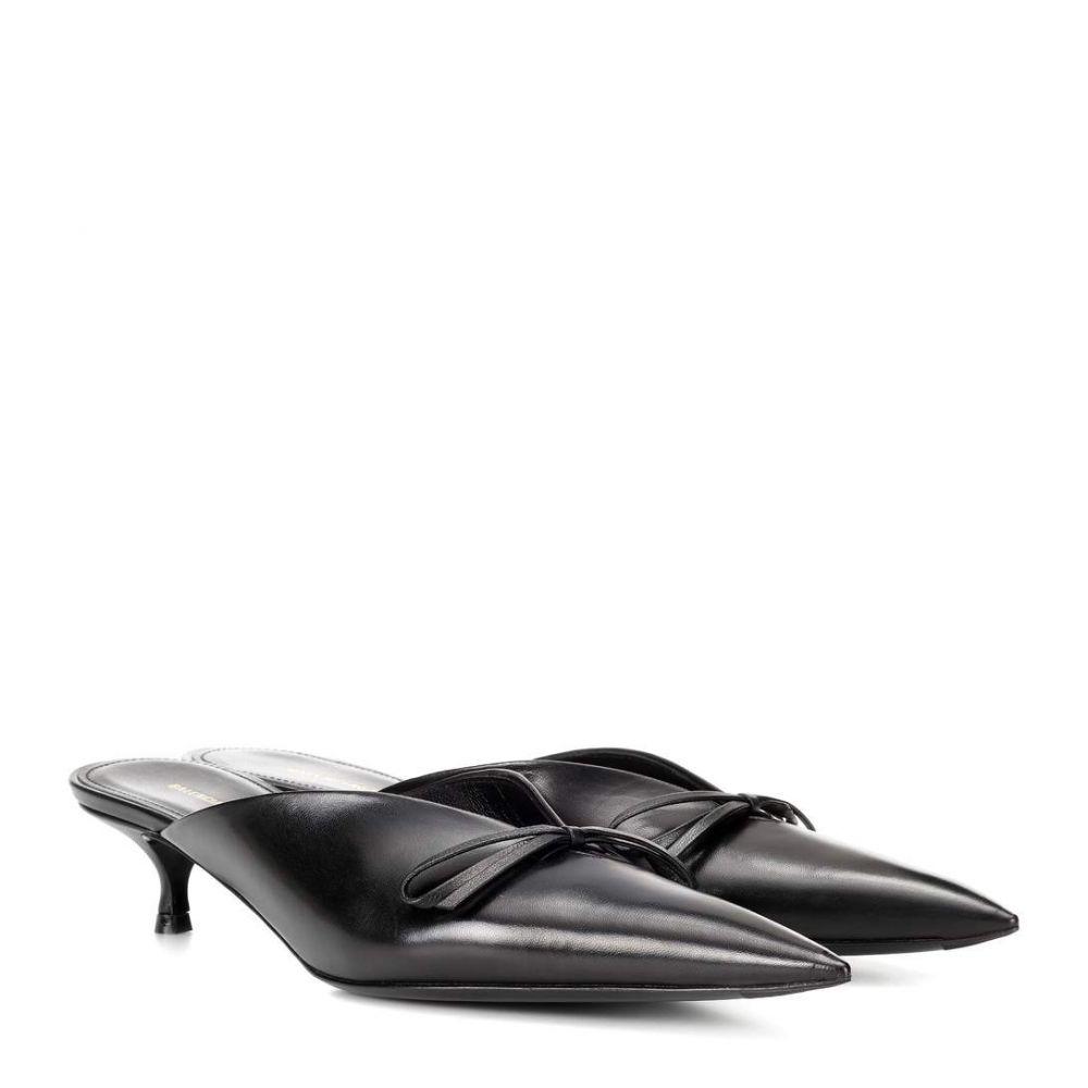 バレンシアガ レディース シューズ・靴 サンダル・ミュール【Knife leather mules】Noir