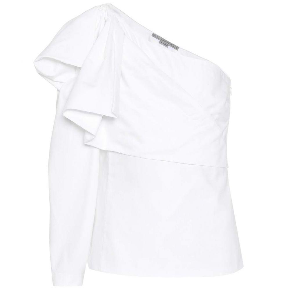 ステラ マッカートニー レディース トップス【Giada one-shoulder cotton top】Pure White
