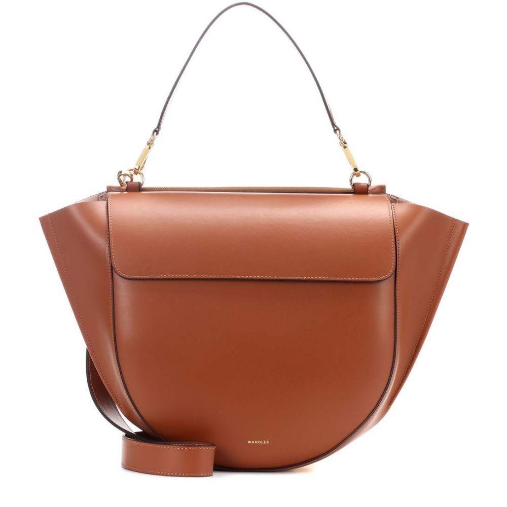 ワンダラー レディース バッグ ショルダーバッグ【Hortensia Big leather shoulder bag】Tan