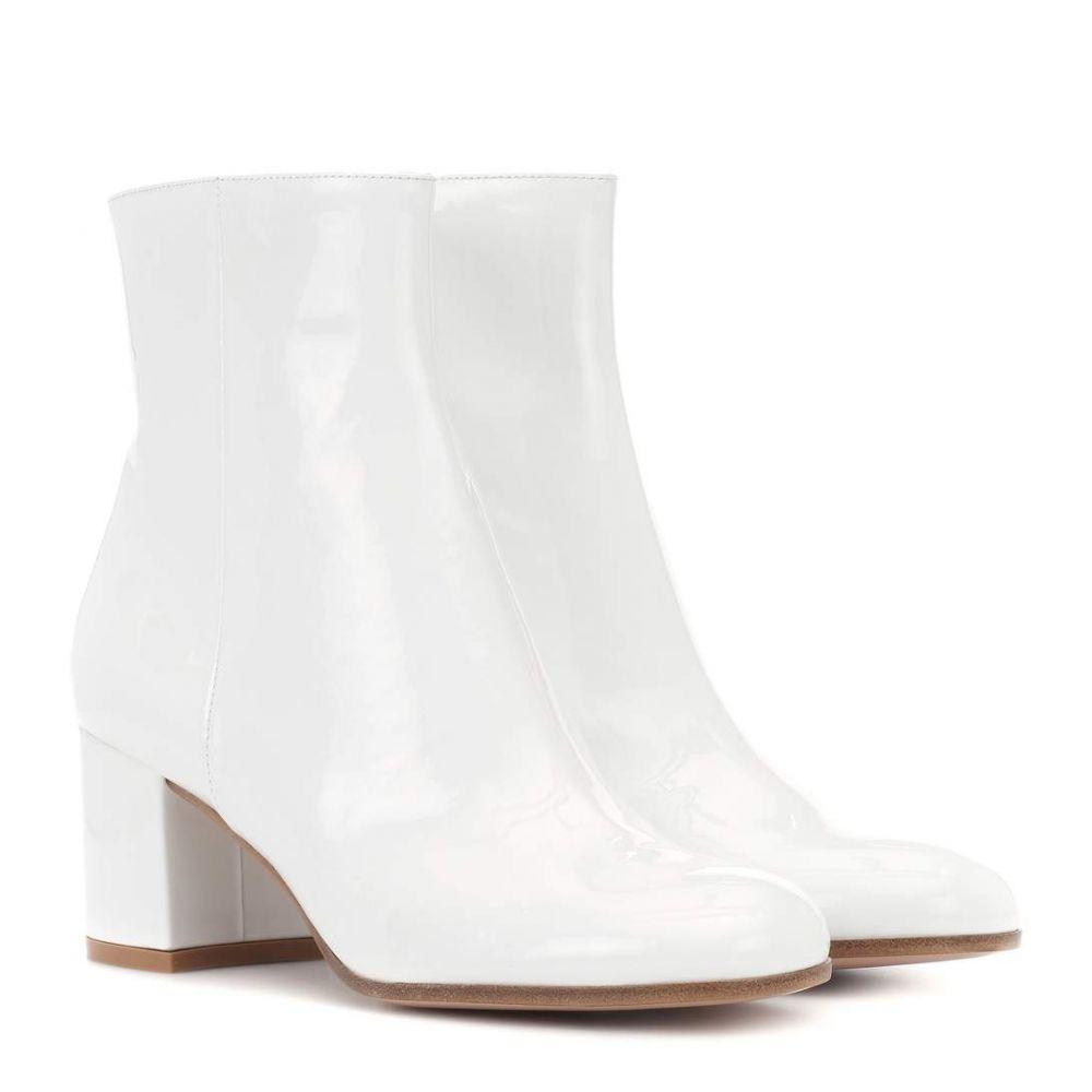ジャンヴィト ロッシ boots】White レディース シューズ patent・靴 ブーツ ブーツ【Margaux【Margaux Mid patent leather ankle boots】White, 爆安!家電のでん太郎:72fb658b --- sunward.msk.ru