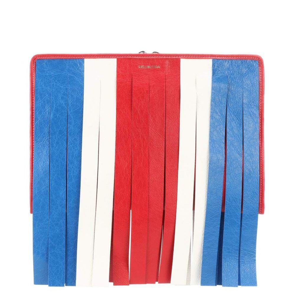 バレンシアガ レディース バッグ クラッチバッグ【Bazar Fringes leather clutch】Bleu/Blanc/Rouge