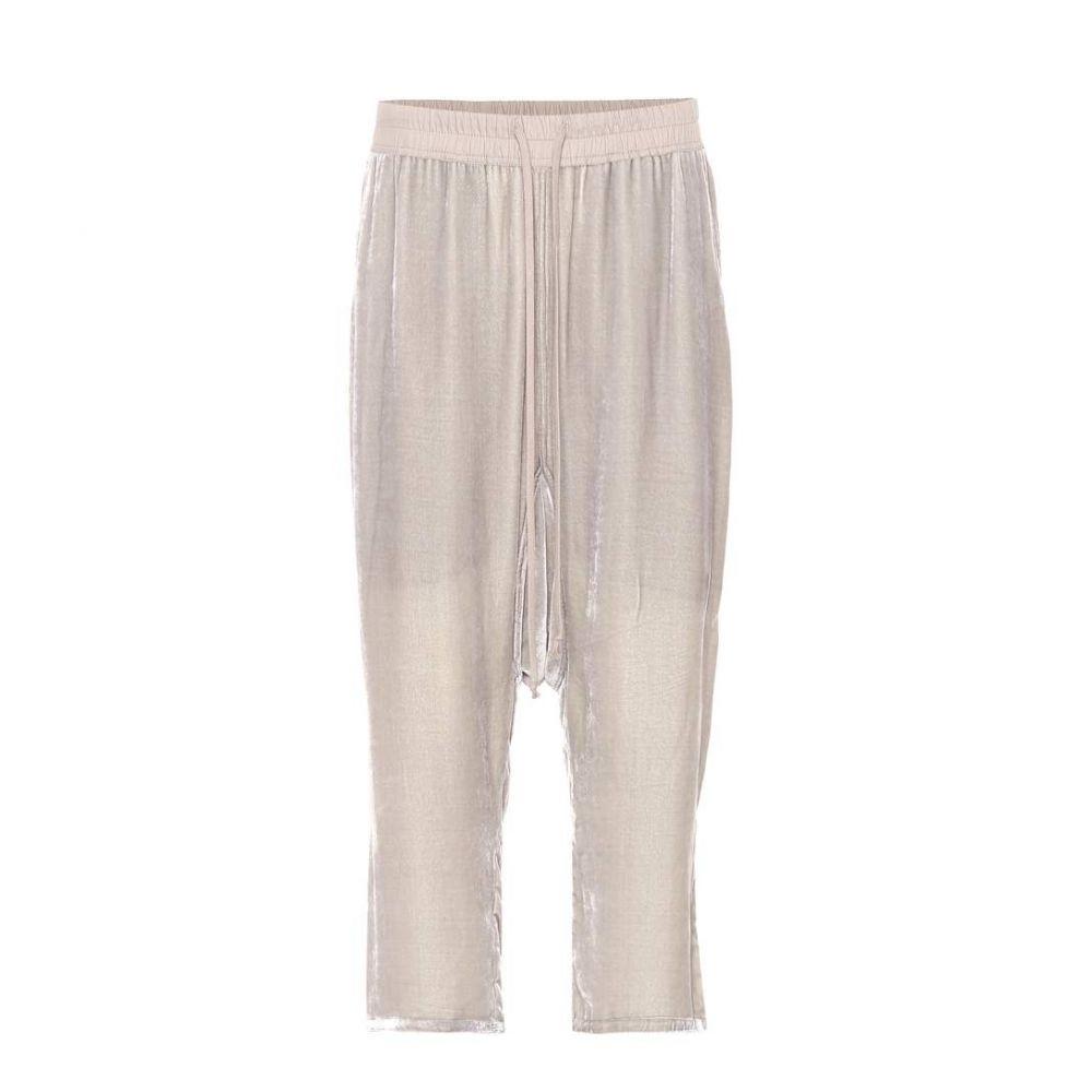 リック オウエンス レディース ボトムス・パンツ クロップド【Cropped velvet pants】Pearl