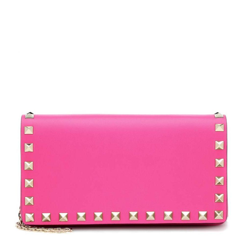 ヴァレンティノ レディース バッグ ショルダーバッグ【Valentino Garavani Rockstud leather shoulder bag】Shadow Pink
