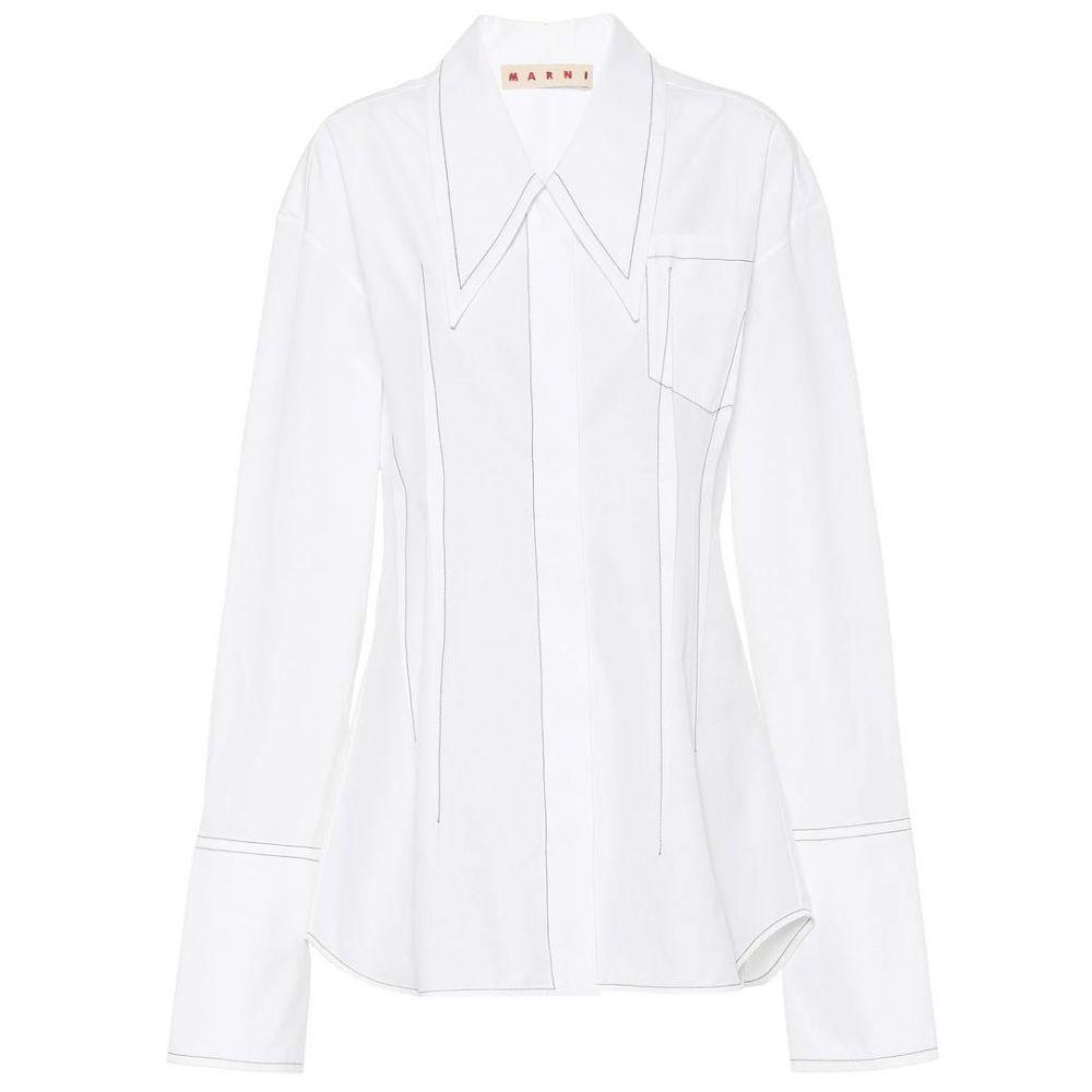 マルニ レディース トップス ブラウス・シャツ【Cotton shirt】Lily White