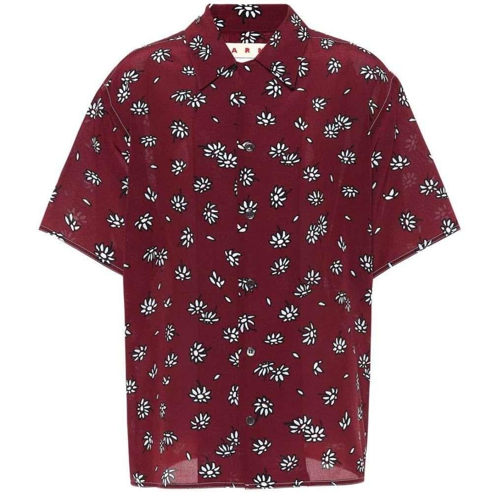 マルニ レディース トップス ブラウス・シャツ【Floral-printed silk shirt】