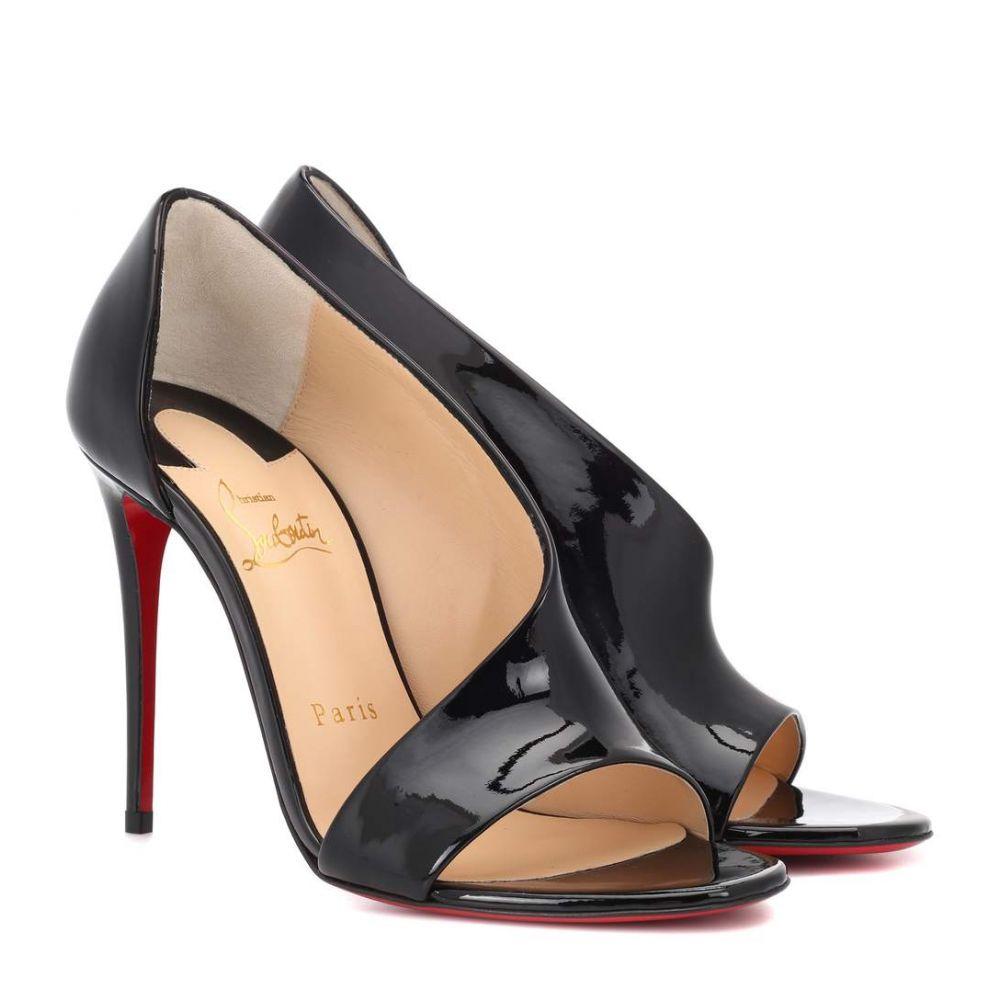 クリスチャン ルブタン レディース シューズ・靴 サンダル・ミュール【Phoebe 100 patent leather sandals】Black