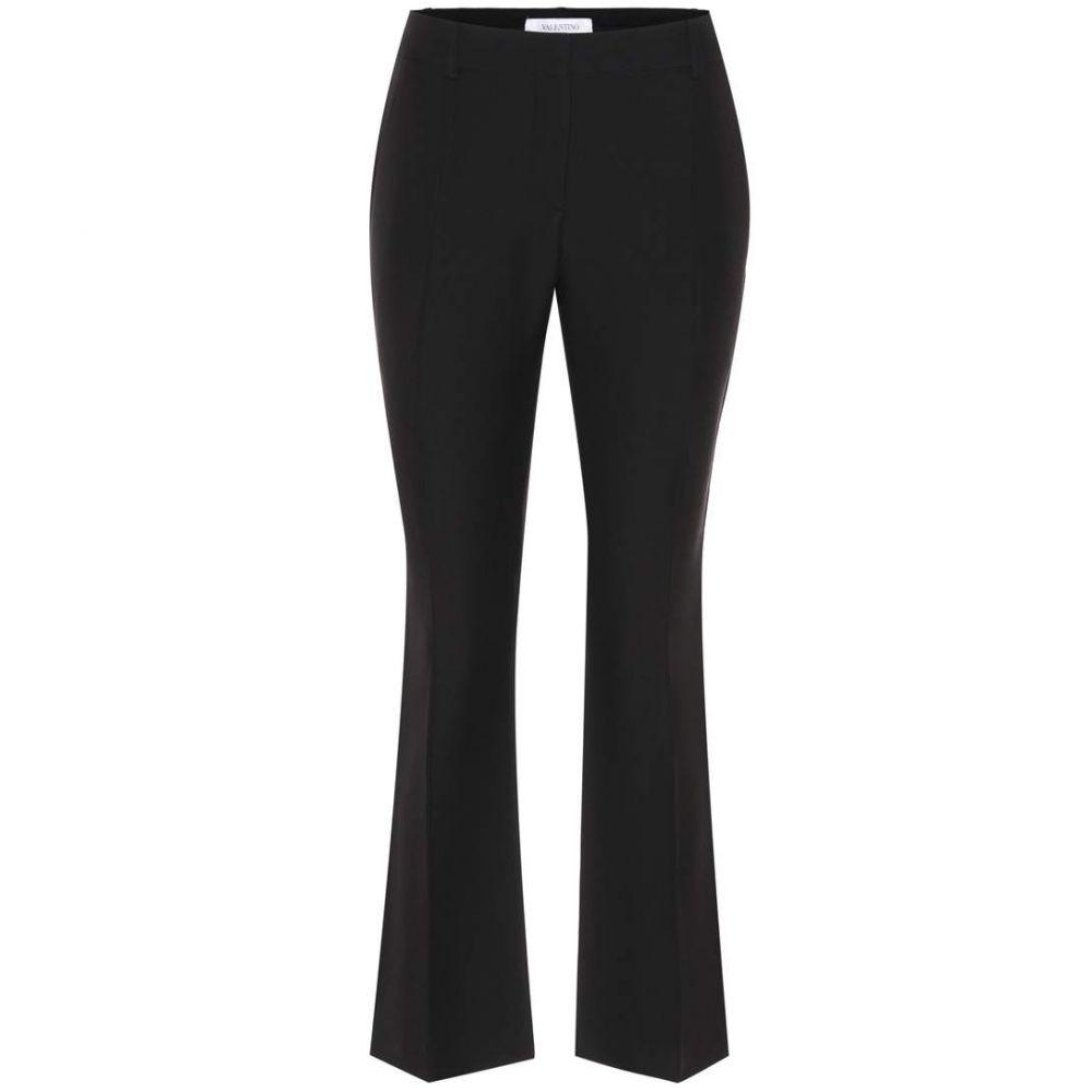 ヴァレンティノ レディース ボトムス・パンツ【Virgin wool and silk trousers】Black