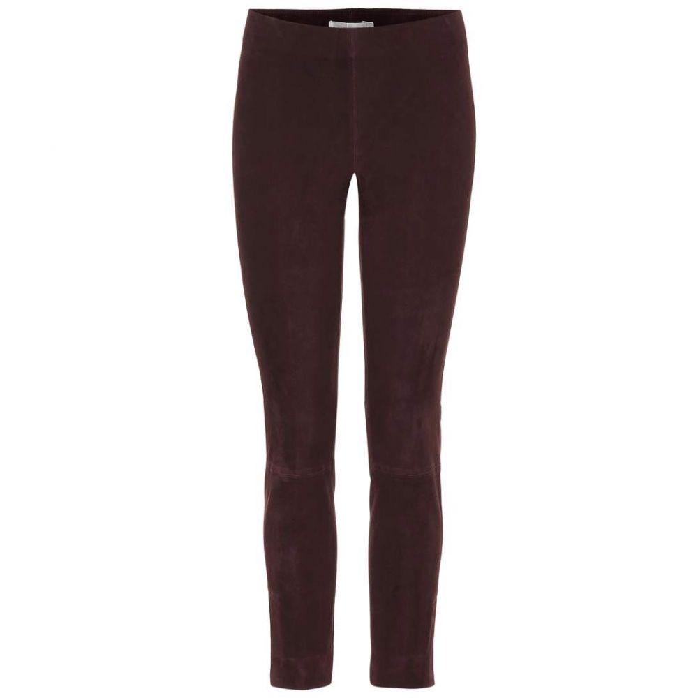 ヴィンス レディース ボトムス・パンツ スキニー・スリム【Leather pants】Bordeaux
