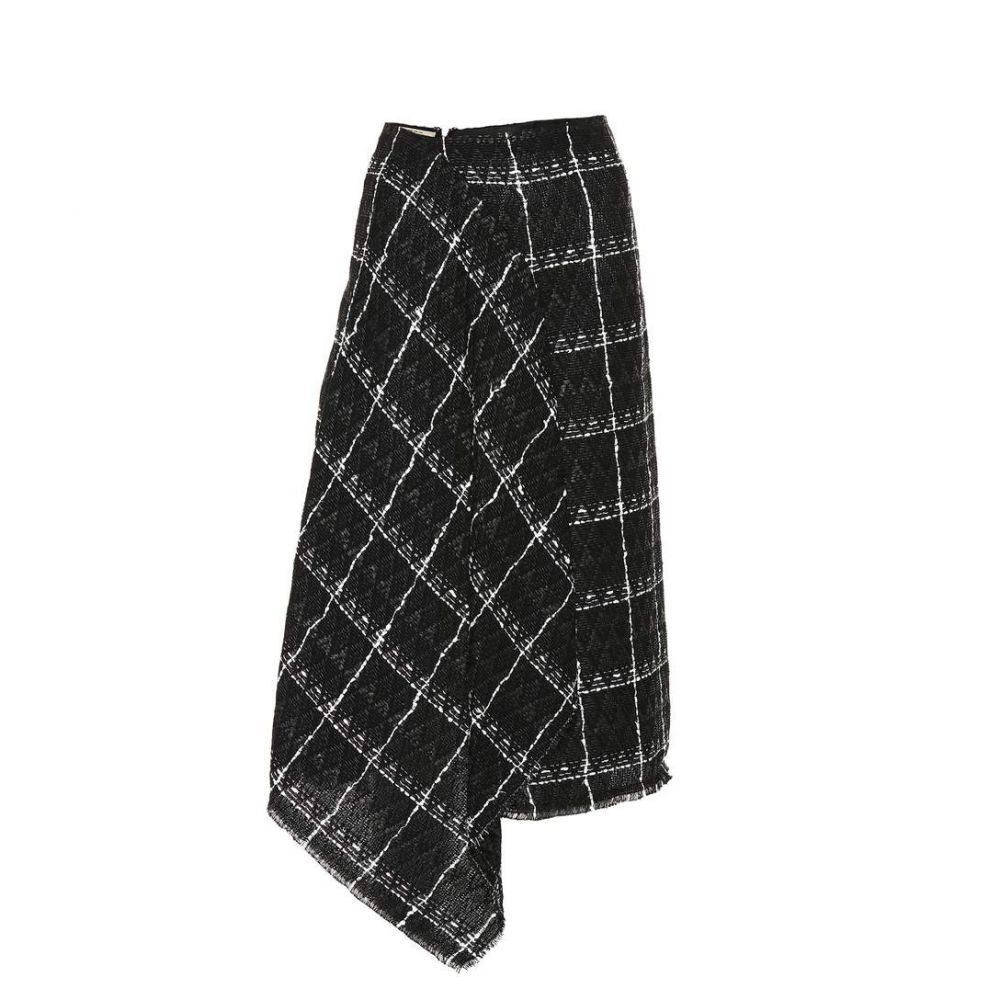 ローラン ムレ レディース スカート ひざ丈スカート【Plaid cotton-blend skirt】Black/White