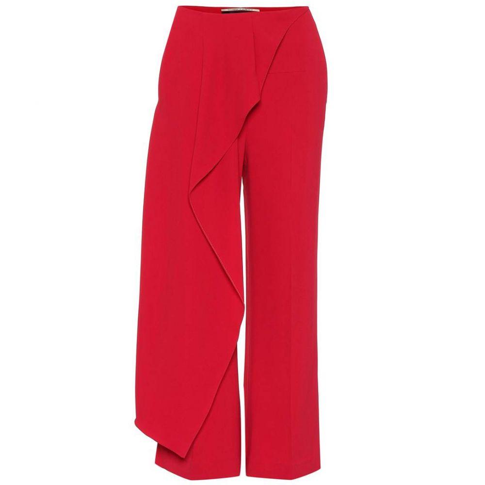 ローラン ムレ レディース ボトムス・パンツ クロップド【Draped panel pants】Persian Red