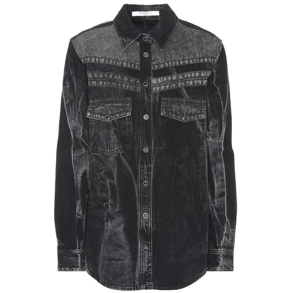 ジバンシー レディース トップス ブラウス・シャツ【Denim shirt】Noir