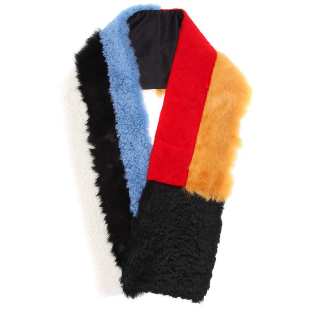カルバンクライン レディース マフラー・スカーフ・ストール【Color-blocked lamb fur scarf】Multicolour