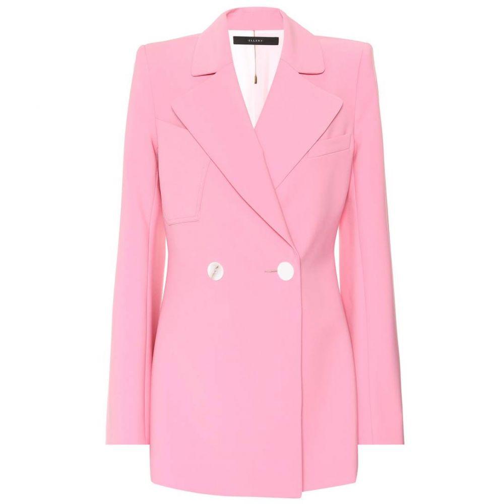 エラリー レディース アウター スーツ・ジャケット【Calling Card wool-blend blazer】Pink