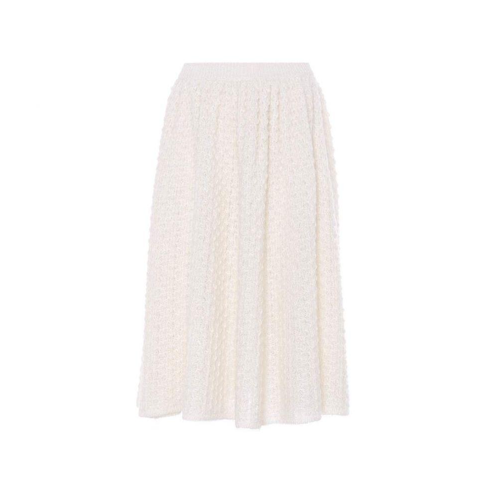 ジル サンダー レディース スカート ひざ丈スカート【Mohair and silk skirt】Natural