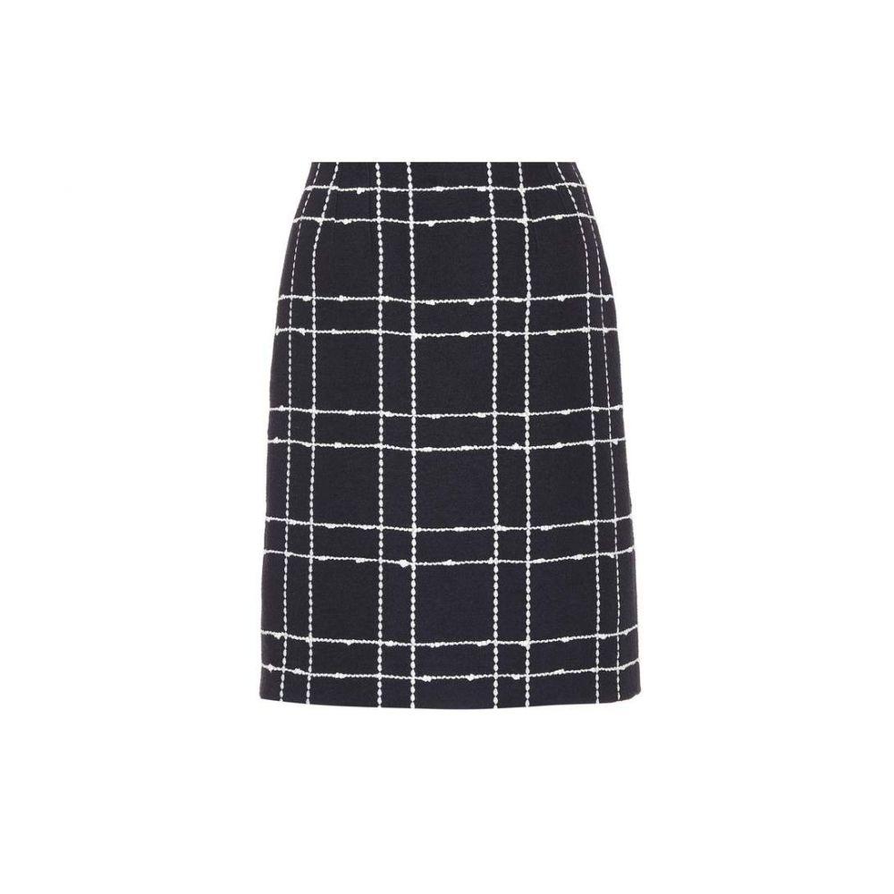 オスカー デ ラ レンタ レディース スカート ミニスカート【Checked denim skirt】Navy/White