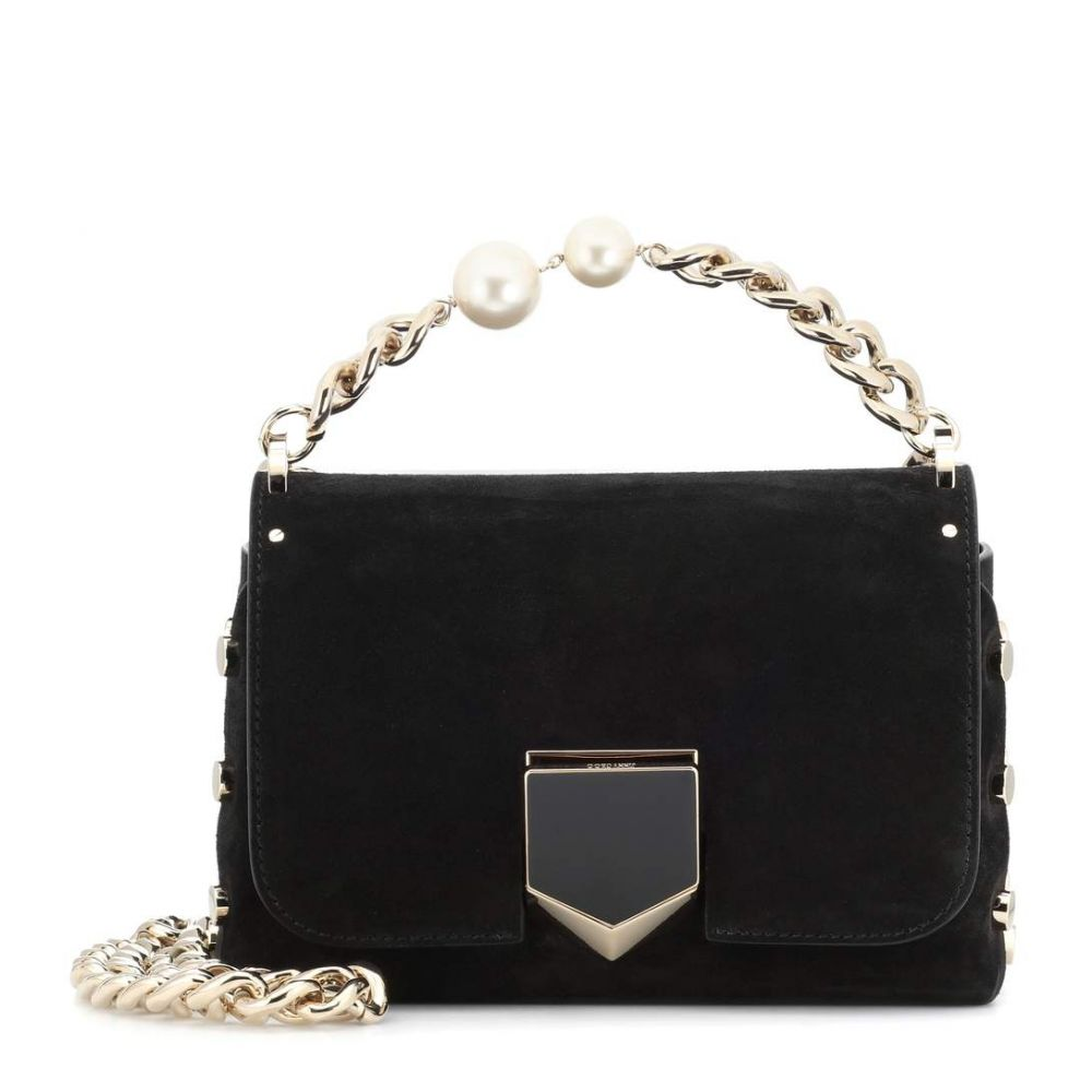 ジミー チュウ レディース バッグ ショルダーバッグ【Lockett Petite suede shoulder bag】Black
