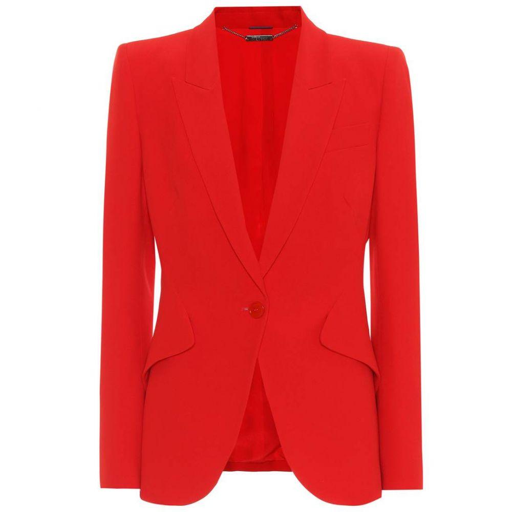 アレキサンダー マックイーン レディース アウター スーツ・ジャケット【Crepe blazer】/Lust Red