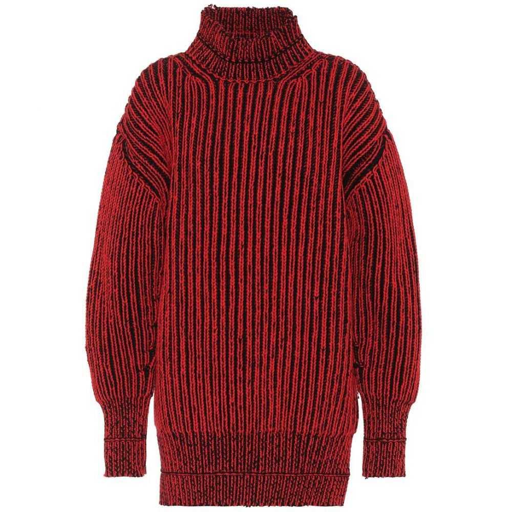 バレンシアガ レディース トップス ニット・セーター【Wool sweater】Rouge/Noir