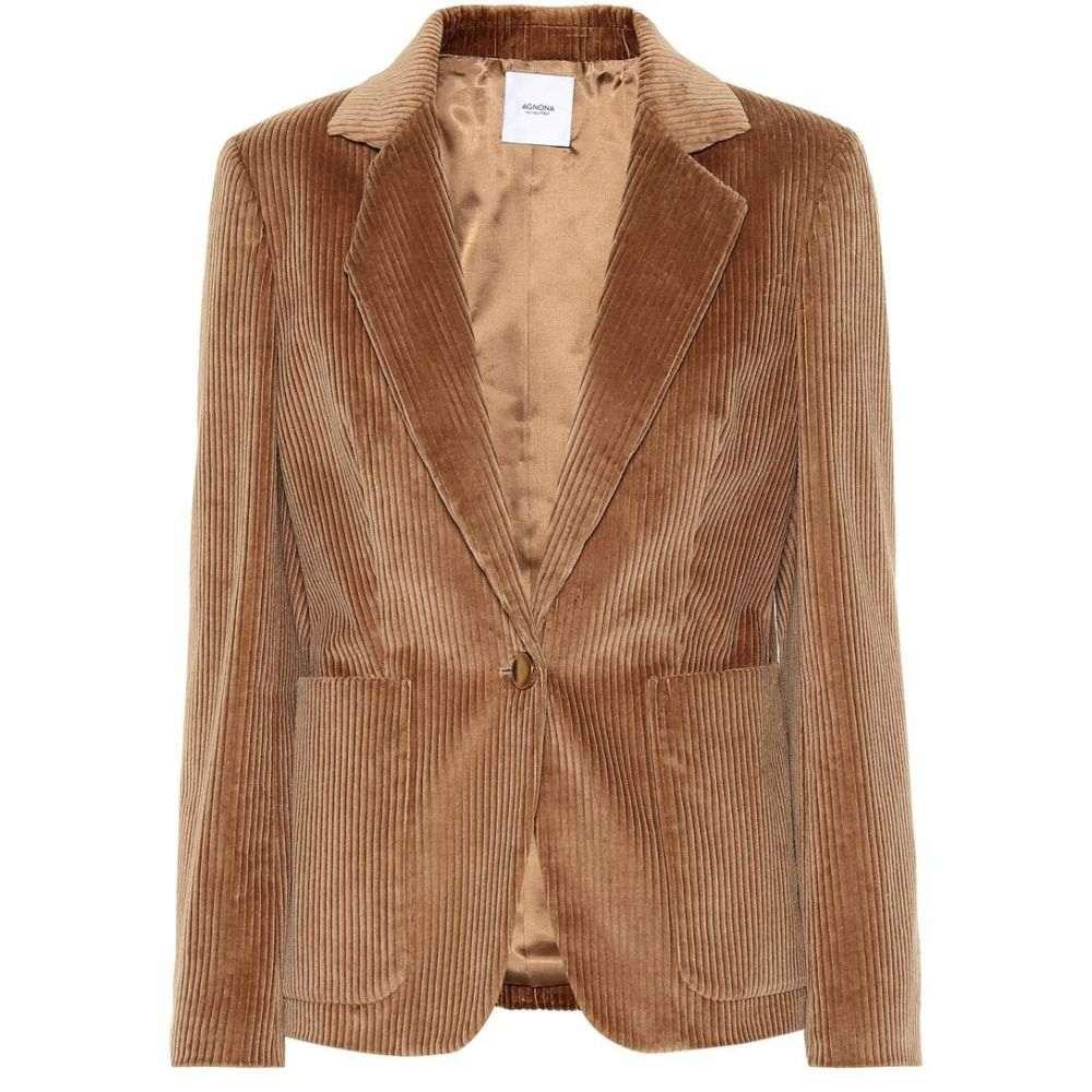 アニオナ レディース アウター スーツ・ジャケット【Corduroy blazer】Camel
