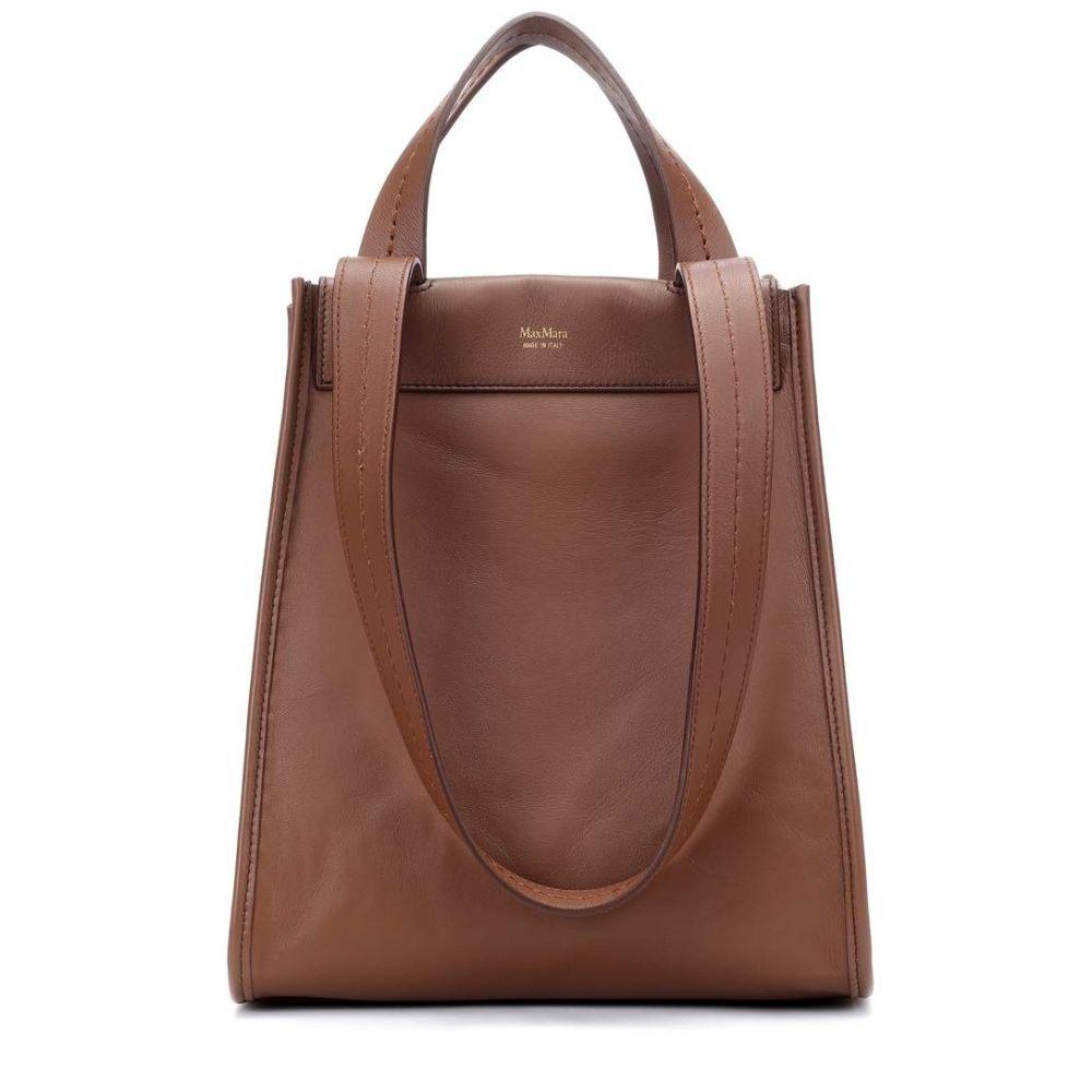 マックスマーラ レディース バッグ トートバッグ【Large reversible leather shopper】Toffee