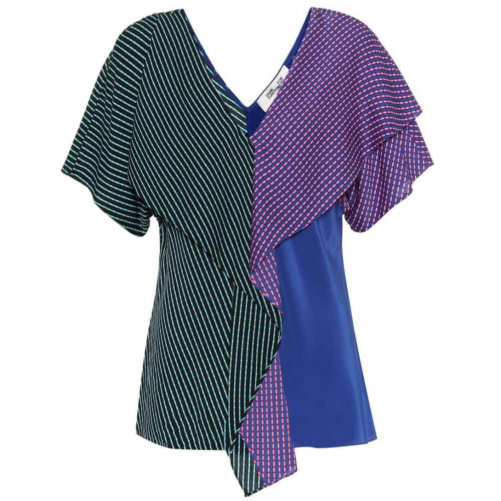 ダイアン フォン ファステンバーグ レディース トップス【Printed stretch-silk top】black blue green
