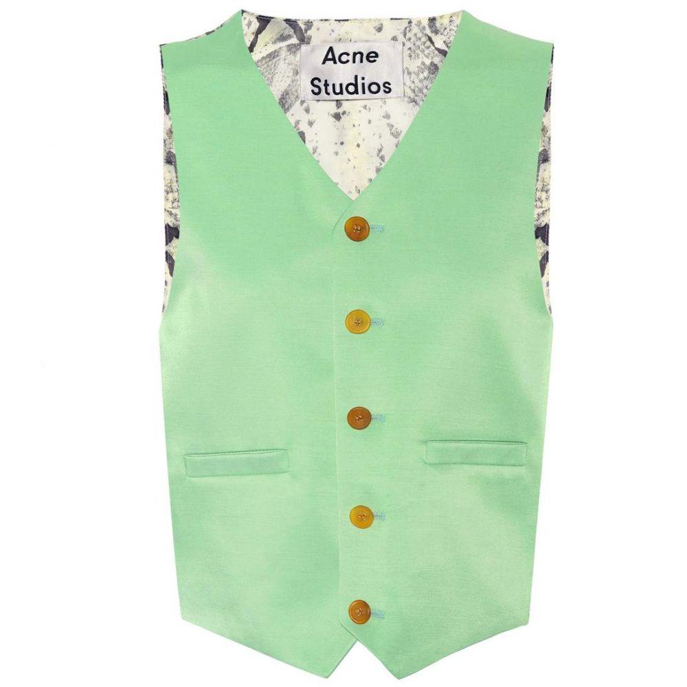 アクネ ストゥディオズ レディース トップス ベスト・ジレ【Janay wool-blend vest】Jade Green