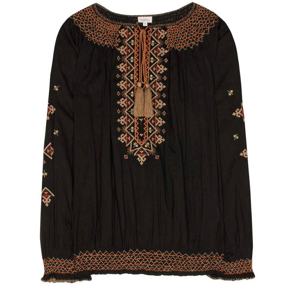 タリサ レディース トップス ブラウス・シャツ【Cotton blouse】Black