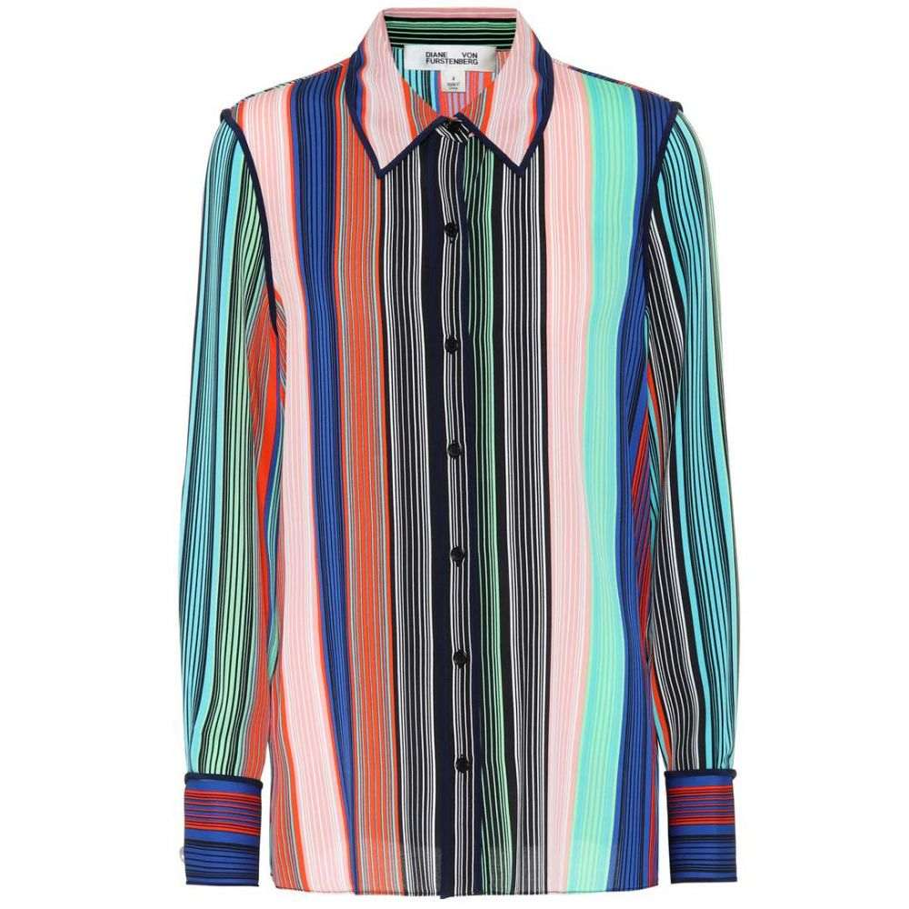 ダイアン フォン ファステンバーグ レディース トップス ブラウス・シャツ【Striped silk blouse】buman stripes